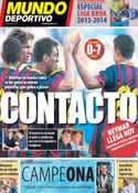 Portada Mundo Deportivo del 28 de Julio de 2013