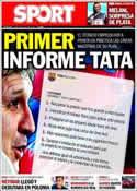 Portada diario Sport del 29 de Julio de 2013