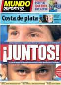 Portada Mundo Deportivo del 29 de Julio de 2013