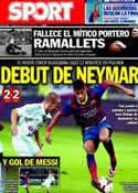 Portada diario Sport del 31 de Julio de 2013