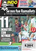Portada Mundo Deportivo del 31 de Julio de 2013