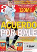 Portada diario AS del 1 de Agosto de 2013