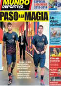 Portada Mundo Deportivo del 1 de Agosto de 2013