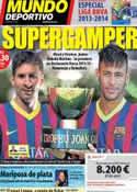 Portada Mundo Deportivo del 2 de Agosto de 2013
