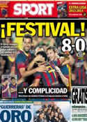Portada diario Sport del 3 de Agosto de 2013