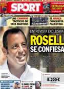 Portada diario Sport del 4 de Agosto de 2013