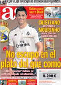 Portada diario AS del 6 de Agosto de 2013