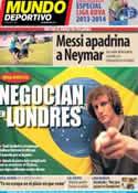 Portada Mundo Deportivo del 6 de Agosto de 2013