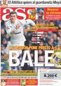 Portada diario AS del 8 de Agosto de 2013