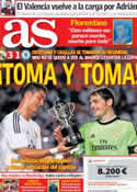 Portada diario AS del 9 de Agosto de 2013