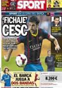 Portada diario Sport del 9 de Agosto de 2013