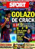 Portada diario Sport del 11 de Agosto de 2013