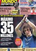 Portada Mundo Deportivo del 12 de Agosto de 2013
