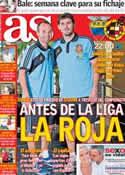 Portada diario AS del 14 de Agosto de 2013