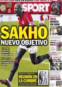 Portada diario Sport del 14 de Agosto de 2013