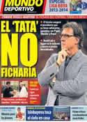 Portada Mundo Deportivo del 14 de Agosto de 2013