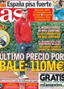 Portada diario AS del 15 de Agosto de 2013