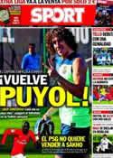 Portada diario Sport del 15 de Agosto de 2013