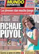 Portada Mundo Deportivo del 15 de Agosto de 2013