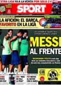 Portada diario Sport del 16 de Agosto de 2013