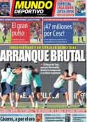 Portada Mundo Deportivo del 16 de Agosto de 2013