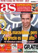 Portada diario AS del 20 de Agosto de 2013