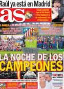 Portada diario AS del 21 de Agosto de 2013