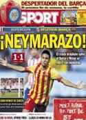 Portada diario Sport del 22 de Agosto de 2013