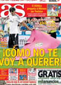 Portada diario AS del 23 de Agosto de 2013