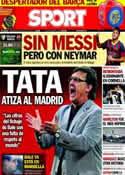 Portada diario Sport del 25 de Agosto de 2013