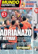 Portada Mundo Deportivo del 26 de Agosto de 2013