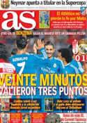 Portada diario AS del 27 de Agosto de 2013