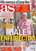 Portada diario AS del 28 de Agosto de 2013
