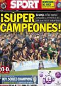 Portada diario Sport del 29 de Agosto de 2013