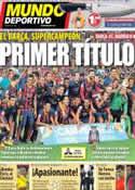 Portada Mundo Deportivo del 29 de Agosto de 2013
