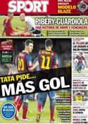 Portada diario Sport del 1 de Septiembre de 2013
