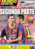 Portada Mundo Deportivo del 1 de Septiembre de 2013