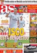 Portada diario AS del 2 de Septiembre de 2013
