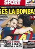 Portada diario Sport del 2 de Septiembre de 2013