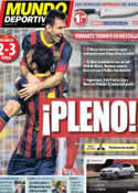 Portada Mundo Deportivo del 2 de Septiembre de 2013