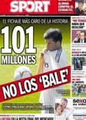 Portada diario Sport del 3 de Septiembre de 2013