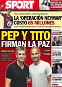 Portada diario Sport del 4 de Septiembre de 2013