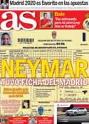 Portada diario AS del 5 de Septiembre de 2013