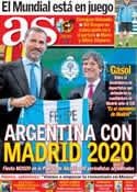 Portada diario AS del 6 de Septiembre de 2013