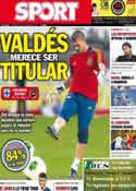Portada diario Sport del 6 de Septiembre de 2013
