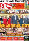 Portada diario AS del 7 de Septiembre de 2013
