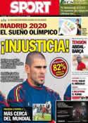 Portada diario Sport del 7 de Septiembre de 2013