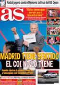 Portada diario AS del 8 de Septiembre de 2013