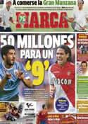 Portada diario Marca del 9 de Septiembre de 2013