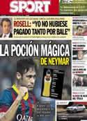 Portada diario Sport del 9 de Septiembre de 2013